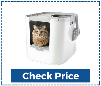 Modkat Litter Box, Top-Entry Includes Scoop and Reusable Liner