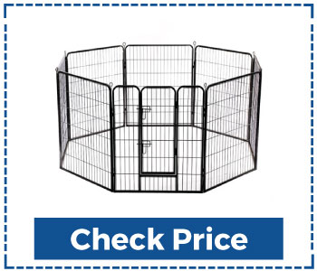 BestPet-Pet-Playpen-8-Panel-Indoor-Outdoor-Folding-Metal-Protable