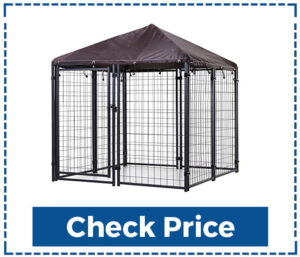 Paw Hut Outdoor Dog Kennel with Roof