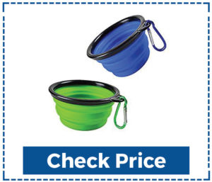 Comsun 2-Pack Collapsible Dog Bowl For Hiking