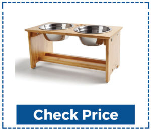 Foreyy Raised Dog Bowls With Stand