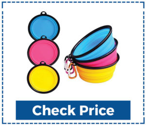 Pet bonus 4-Pack Silicone Collapsible Dog Bowls