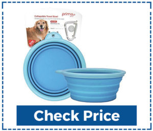 Prima Pets Collapsible Silicone Dog Bowl