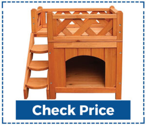 Slowly Trog 2 Layers  Pet Wooden Dog House