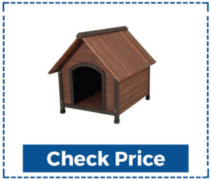 Aspen Pet Ruff Hauz Small Wooden Dog House