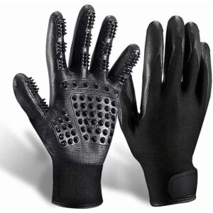 Hands on Pet Grooming Gloves