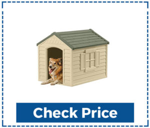 Suncast Outdoor Dog House with Door