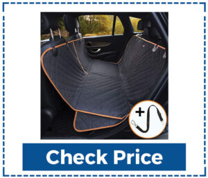 Cleebourg Dog Hammock Car Seat Cover with Seat Belts