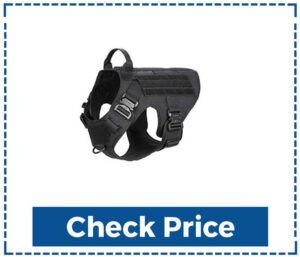 IceFang Tactical Dog Harness with 2 X Metal Buckle