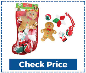 Midlee Toy Filled Dog Christmas Stocking Gift