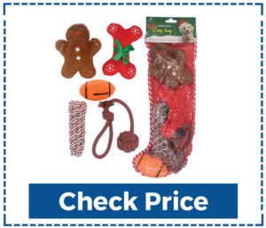 Homimp 5 Pack Dog Christmas Stocking Toys