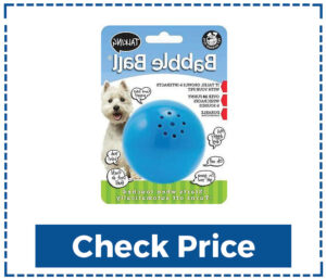 Pet Qwerks Talking Babble Ball Interactive Pet Toy